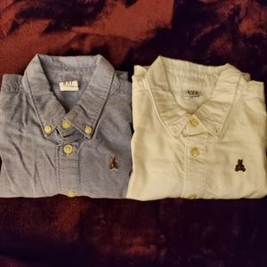 2 Baby gap button down 18month shirts